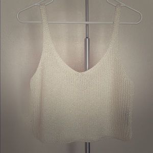 Sparkly Crop Top Sweater from American Apparel